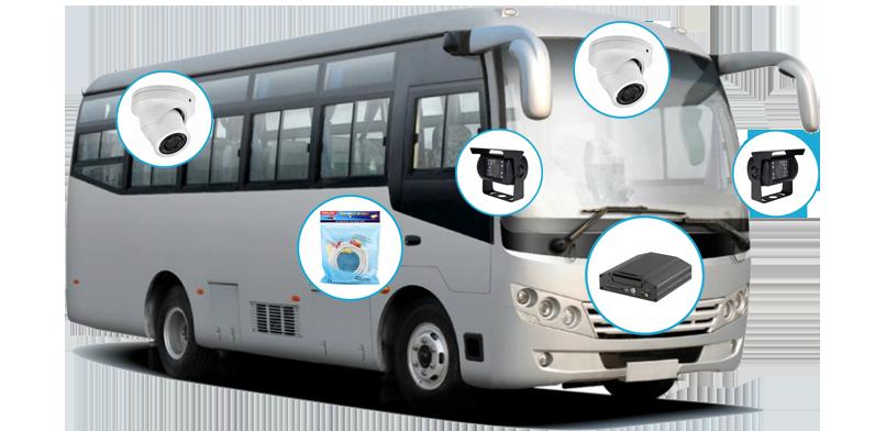 Установка видеонаблюдения в транспорте в Элисте